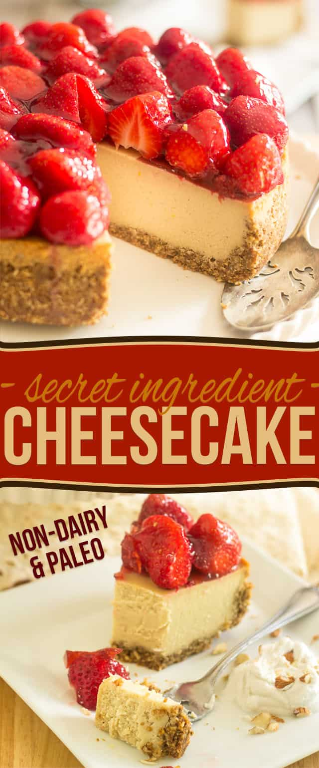 Secret Ingredient Non Dairy Cheesecake | thehealthyfoodie.com