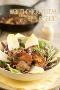 Warm Chicken Liver and Apple Salad | thehealthyfoodie.com