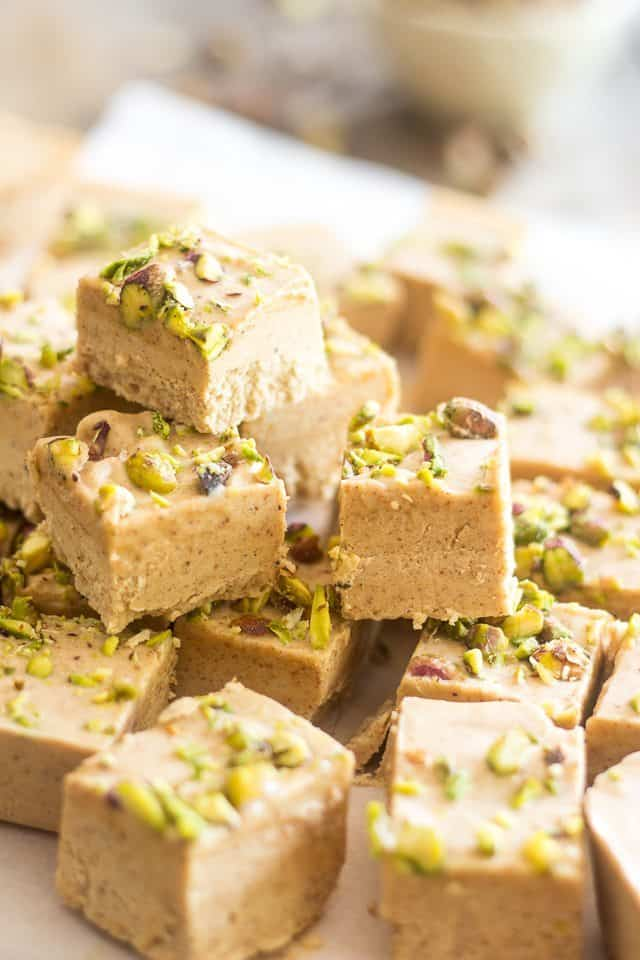 Almond Pistachio Fat Bombs | thehealthyfoodie.com