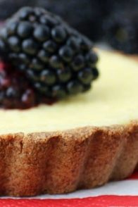 Keto Cheesecake Tarts with Blackberry Compote
