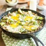 Creamy Ground Beef and Cauliflower Skillet | thehealthyfoodie.com