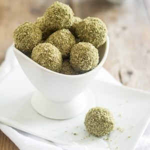 Matcha Coconut Fat Bombs