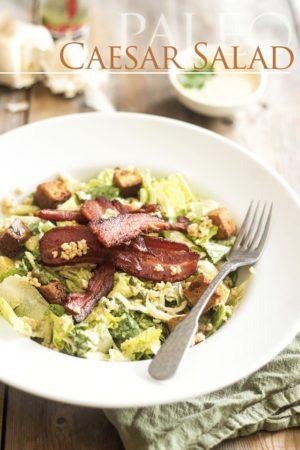 Paleo Caesar Salad | thehealthyfoodie.com