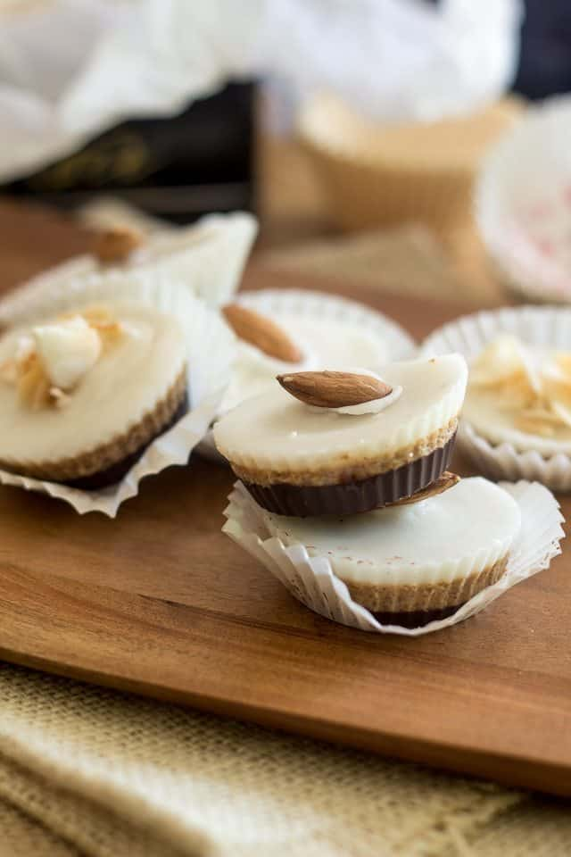 Triple Layer Choconut Almond Butter Cups | thehealthyfoodie.com
