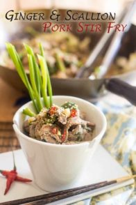 Ginger and Scallion Pork Stir Fry | thehealthyfoodie.com