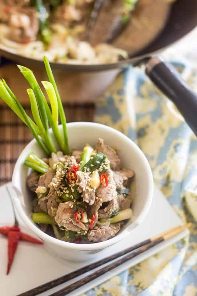 Ginger and Scallions Pork Stir Fry-7
