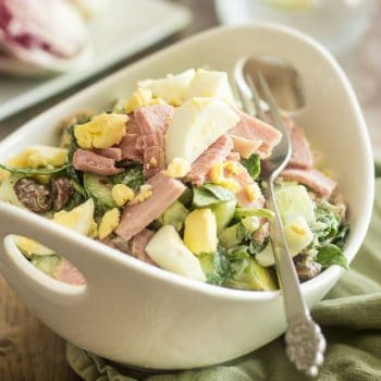 Smoked Ham and Hard-Boiled Egg Salad | thehealthyfoodie.com