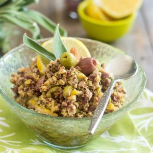 Lemon and Almond Olive Tapenade