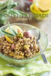 Kick a great classic up a notch with this Lemon and Almond Olive Tapenade recipe. So tasty and crunchy, your guests and family will love it, guaranteed!