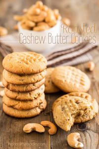 These Paleo Roasted Cashew Butter Cookies are like a million times better than any Peanut Butter Cookie out there. If you've got a craving, here's your fix!