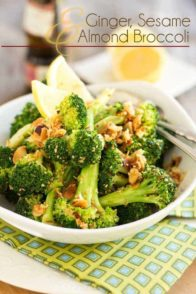 Ginger Sesame and Almond Broccoli - You will be surprised by the incredible amounts of flavors that emanate from such a simple little dish!