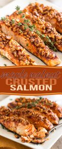 So deliciously tasty, this quick and easy Maple Walnut Crusted Salmon is bound to become a favorite. One of those recipes that you'll want to know by heart!