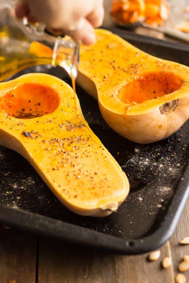 How to cook butternut squash in the oven
