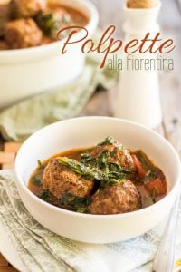 This Polpette alla Fiorentina, or meatballs in spinach and tomato sauce, is loaded with filling and nutritious ingredients, it's a complete meal in a bowl.