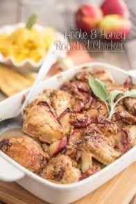 Apple and Honey Roasted Chicken | thehealthyfoodie.com