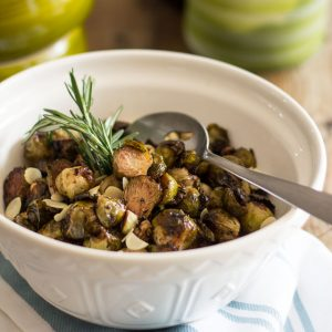 Balsamic Glazed Oven Roasted Brussels Sprouts