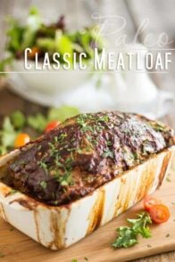 So tasty, so moist, so juicy and so easy to make, this Classic Meatloaf Recipe is probably the last one you'll ever need. It's totally gluten-free, too!