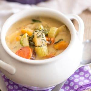 Non-Dairy Creamy Vegetable Soup