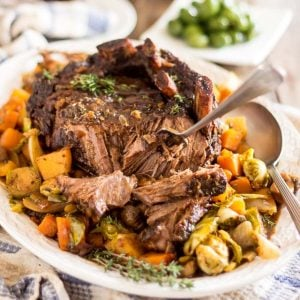 Maple Balsamic Braised Cross Rib Roast