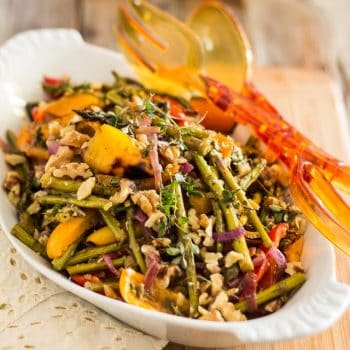 Oven Roasted Asparagus and Bell Pepper Salad