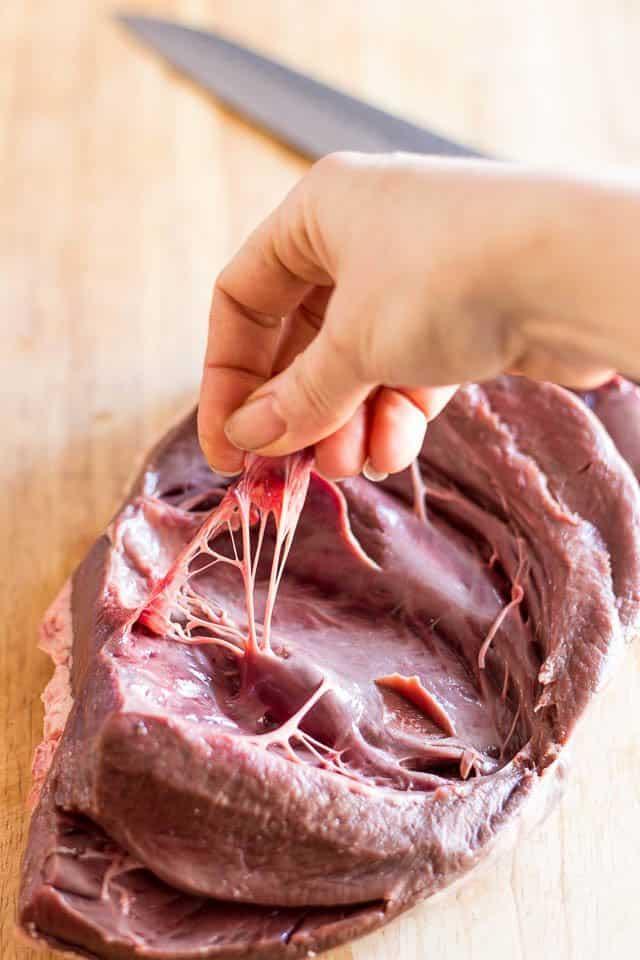 Stuffed Beef Heart | thehealthyfoodie.com