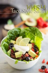 Warm Taco Style Salad | thehealthyfoodie.com