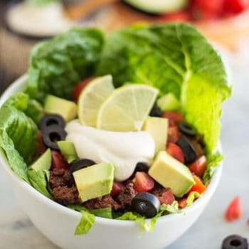 Warm Taco Style Salad – Kicking Off Another Round of Whole30