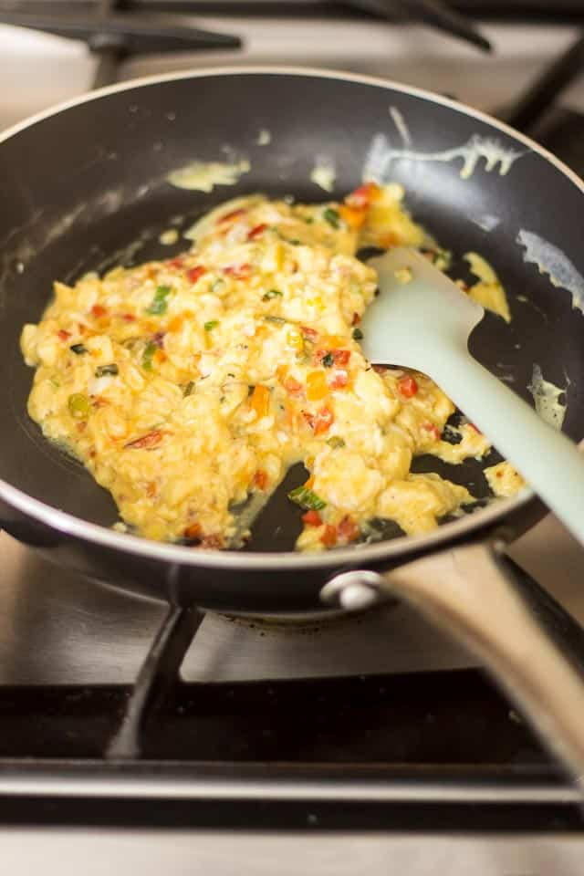 Creamy Scrambled Eggs with Smoked Salmon | thehealthyfoodie.con