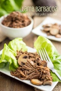 Lamb Barbacoa - Recipe out of Make it Paleo 2. Quite simply the juiciest and tastiest pulled lamb ever!