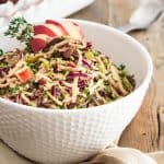 Broccoli and Rutabaga Slaw | thehealthyfoodie.com