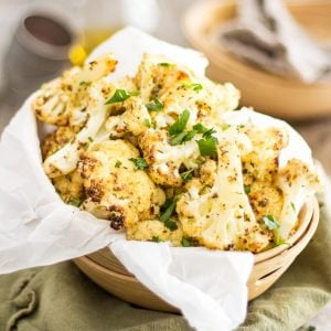 Oven Roasted Cauliflower | thehealthyfoodie.com