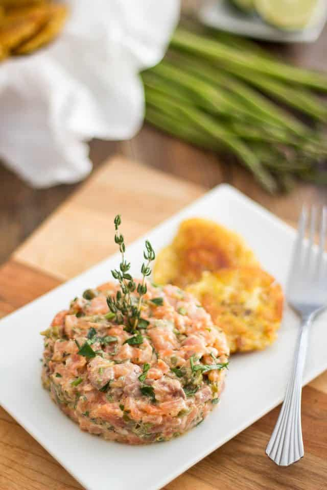 Two-Salmon Tartare | thehealthyfoodie.com