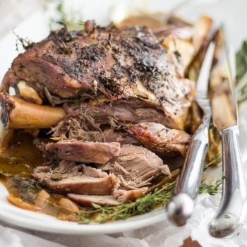 Simple Braised Leg of Lamb