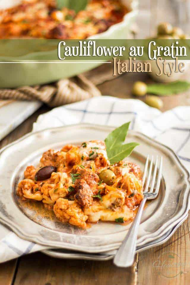 Cauliflower Au Gratin Italian Style | thehealthyfoodie.com