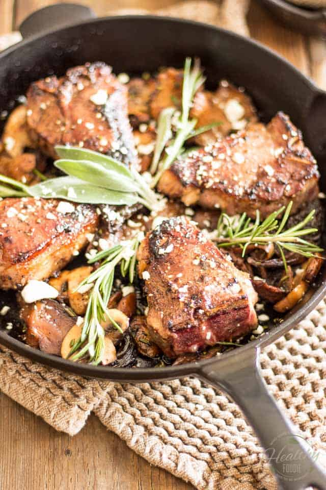 Maple Glazed Lamb Chops | thehealthyfoodie.com