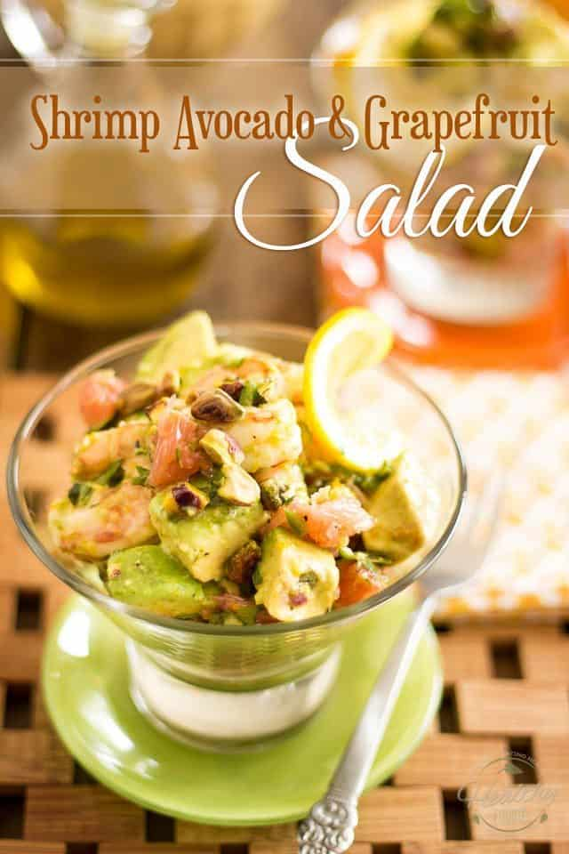 Shrimp Avocado Grapefruit Salad | thehealthyfoodie.com