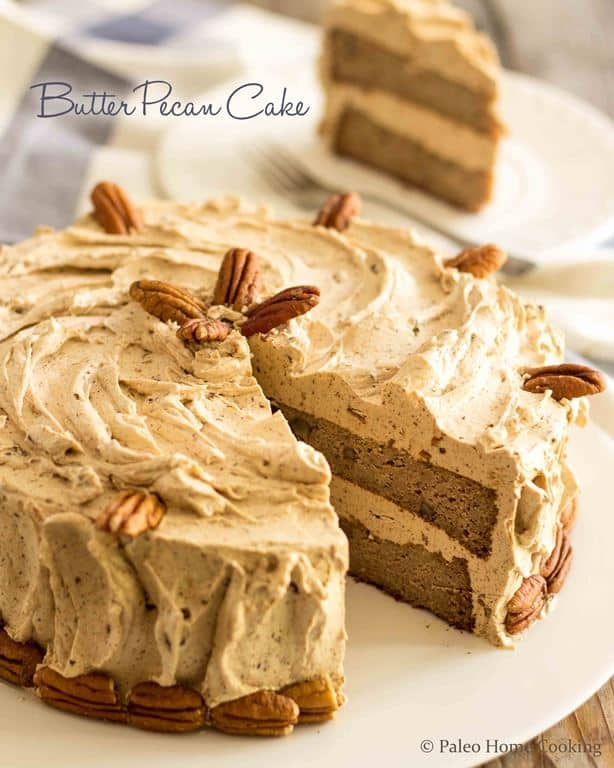 Butter Pecan Cake | thehealthyfoodie.com