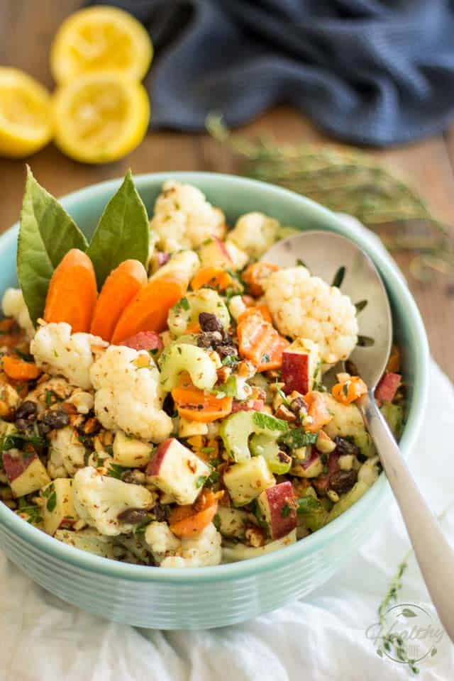 Loaded Cauliflower Salad | thehealthyfoodie.com