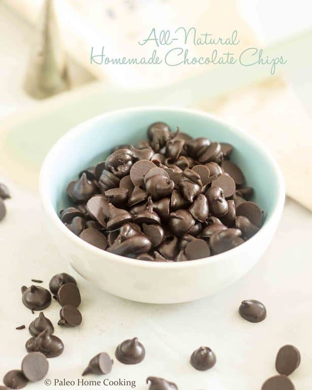 Homemade All Natural Chocolate Chips | thehealthyfoodie.com