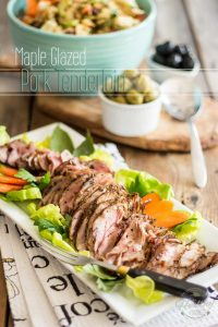 This simple Maple Glazed Pork Tenderloin makes for a delicious and healthy replacement for deli meat. Perfect for your next potluck dinner party!