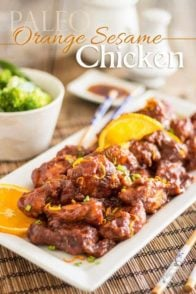 Orange Sesame Chicken | thehealthyfoodie.com