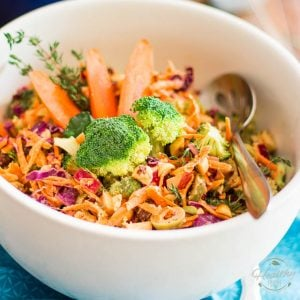 Magic Broccoli and Carrot Salad | thehealthyfoodie.com