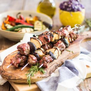 Lamb Kabobs with Apples and Dates