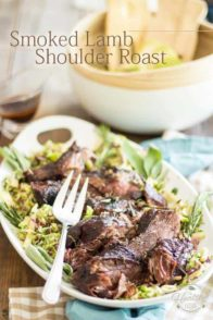 Smoked Lamb Roast | thehealthyfoodie.com
