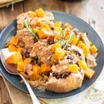 Stewed Pork Loin with Butternut Squash Apple & Raisins | thehealthyfoodie.com