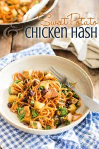 Easy on the palate any time of day, this Sweet Potato and Chicken Hash is a real treat for the taste buds; it's also super quick and easy to make!