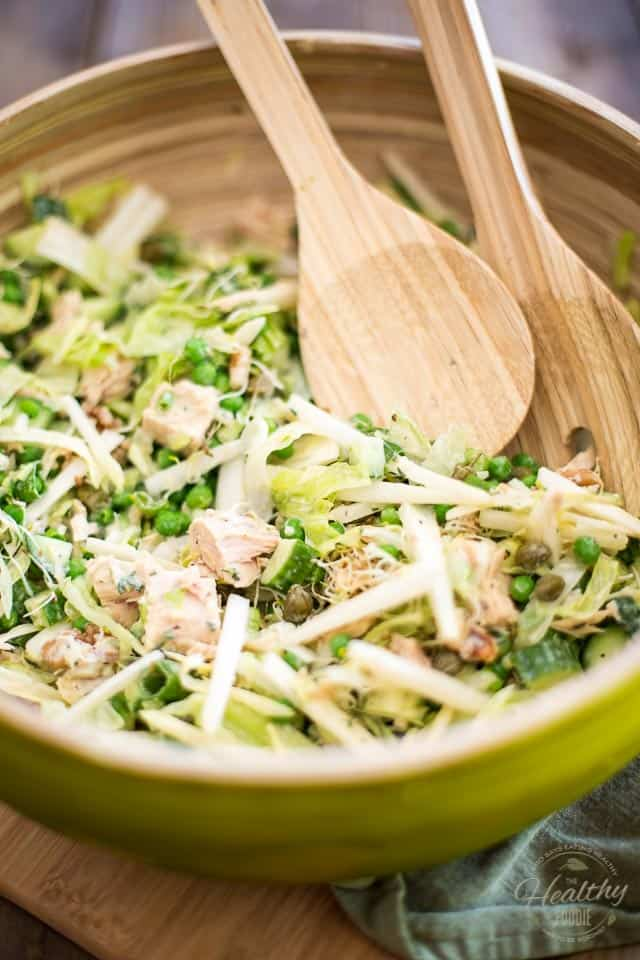 Green Peas and Tuna Salad | thehealthyfoodie.com