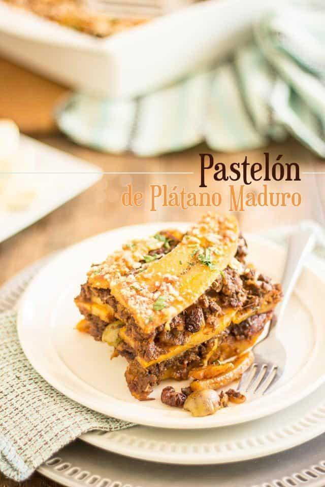 Pastelon de Platano Maduro | thehealthyfoodie.com