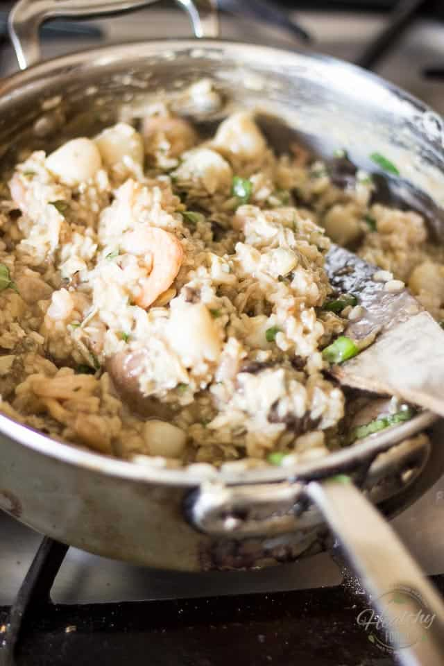 Seafood and Wild Mushroom Risotto | thehealthyfoodie.com