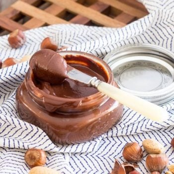 Dark Chocolate Hazelnut Spread | thehealthyfoodie.com